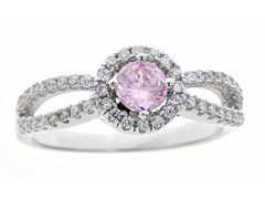 Pink Simulated Diamond Ring
