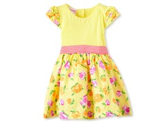 Yellow Floral Knit Dress (2T-4T)