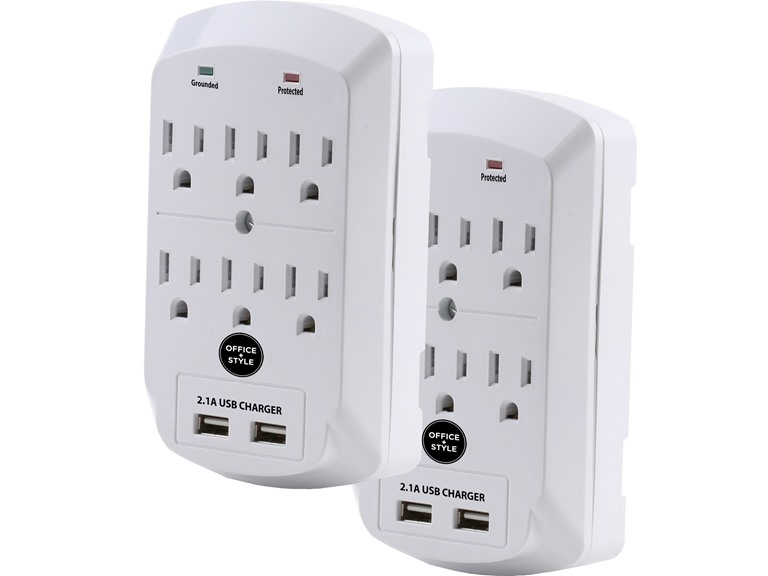 Office+Style Surge Protector (2 Pack)