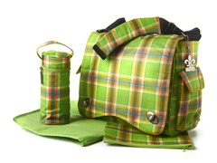 Kalencom Diaper Bag - Green Plaid