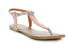 Lalo Thong Sandal, Beige and Light Pink