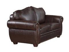 Abbyson Living Palazzo Leather Loveseat