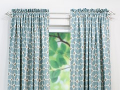 Sofie Rod Pocket Curtain Panel - Cadet - 3 Lengths