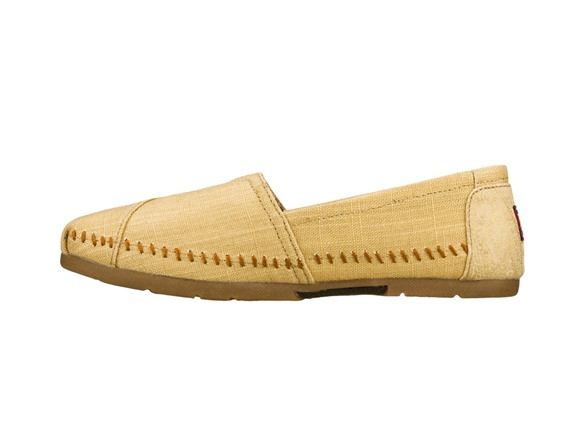 Womens Skechers Luxe BOBS Indian Summer Gold Casual Shoes on woP2b