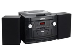 RCA 3-CD Audio System with AM/FM
