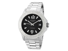 Men's Black Dial / Stainless Steel Band