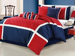 Quincy 8Pc Set-Red/Navy-2 Sizes