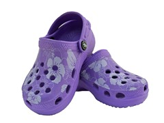Purple Hawaiian Clog