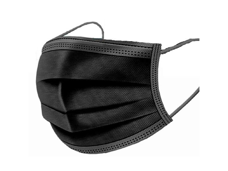 Black Disposable 3-Ply Face Masks