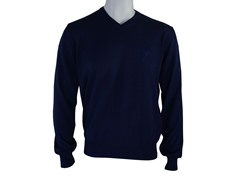 Versace V Neck Sweater, Navy