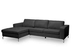 Lazenby Black Sectional Sofa