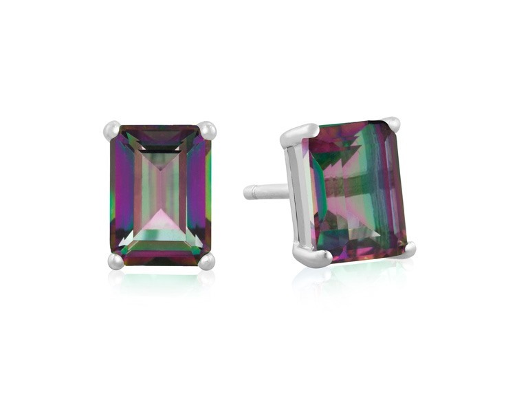 2 1/2CT Emerald Cut Gemstone Earrings