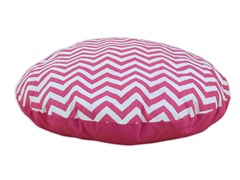 "Zig Zag Candy Pink 36"" Round Pet Bed"