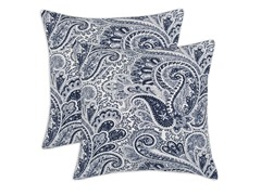 Paisley 17x17 Pillows - Blue - Set of 2