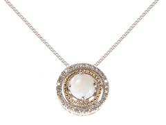 Silver & 14k Gold Opal Pendant