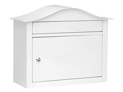 Locking Lunada Wall Mailbox, White