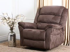 Clinton Rocker Recliner, Chocolate