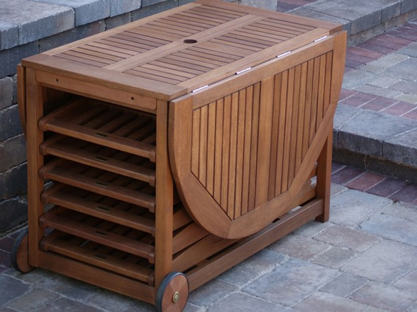 Outdoor Interiors 7 Pc Fold Amp Store Patio Furniture Set