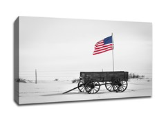 Wagon and Flag