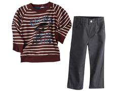 Striped Sweatshirt & Pants (12M-5)