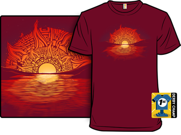 Aztec Sunset T-shirt Aztec Sunset Shirt.woot