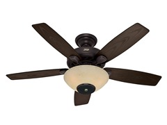 52-Inch Concert Ceiling Fan, New Bronze