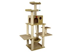 72-Inch Classic Cat Tree - Beige