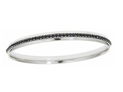 Stainless Steel Black Sim. Diamond Bangle