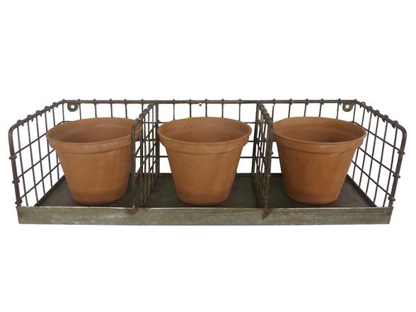 Merveilleux VIP Home And Garden Metal 3 Bin Wall Basket