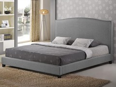 Aisling Gray Fabric Platform Bed - King