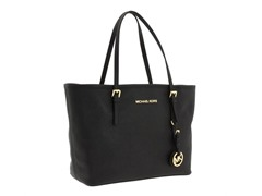 Michael Kors Jet Set Saffiano Travel Tote, Blk