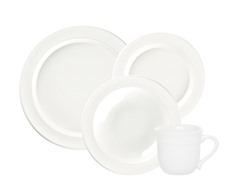 4 Piece Dinnerware Set - Nougat
