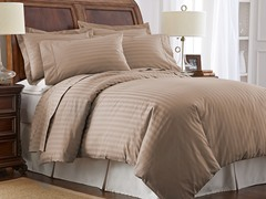 500TC Cotton Duvet Cover Set-Taupe-2 Sizes
