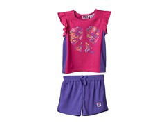 Girls Tee & Short Set - Peace & Sports