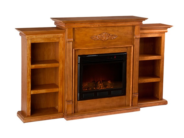 tennyson electric fireplace w bookcases. Black Bedroom Furniture Sets. Home Design Ideas