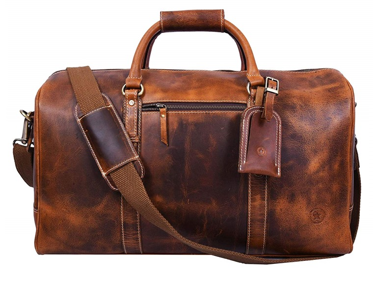 Leather Carry-On Bag, 3 Colors