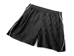 Solid Black Short with Piping