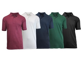 5 Pack Mens Polo Shirts