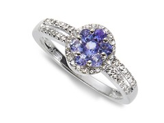 Tanzanite & White Topaz Ring