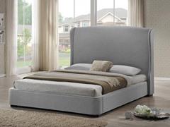 Sheila Gray Linen Modern Bed - King