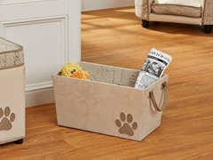 Modern Vintage Pet Storage Tote - Cream
