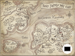 Every Fantasy Map Poster
