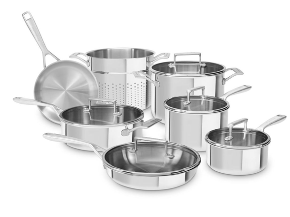 Kitchenaid Tri Ply Stainless 12 Pc Cookware Set