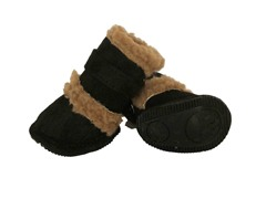 Black Shearling Duggz Shoes