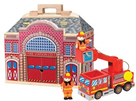 Melissa & Doug Fold & Go Fire Station