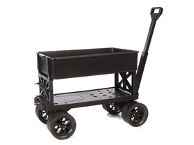 Mighty Max Cart Utility Cart with Tub, Black