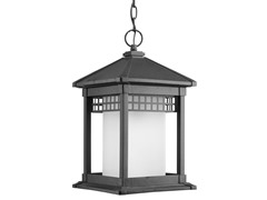 1-Light Hanging Lantern, Black