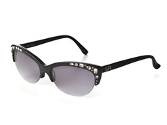 Black Stone Crystal Sunglasses w/ Grey Lenses