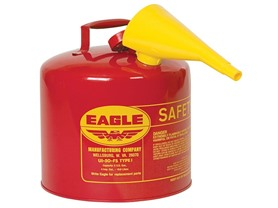 5 Gallon Galvanized Steel Gas Can, Red