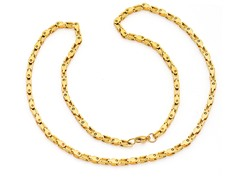 "18kt Gold Plated 24"" Bicycle Chain"